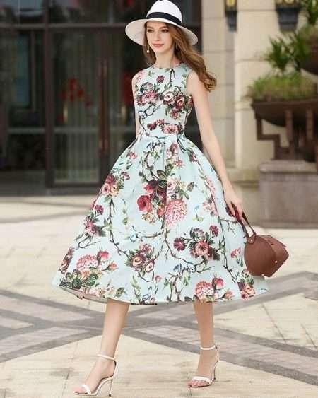 Vestido Midi Rodado Floral
