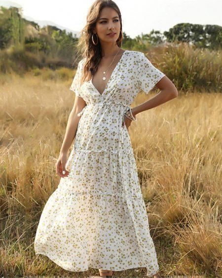 Vestido Midi Floral Casual