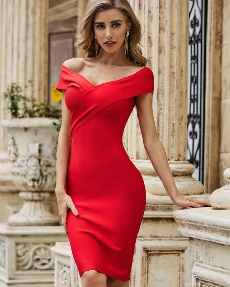 Vestido de Festa Midi Vermelho