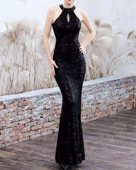 Vestido de Paetê Longo para Casamento