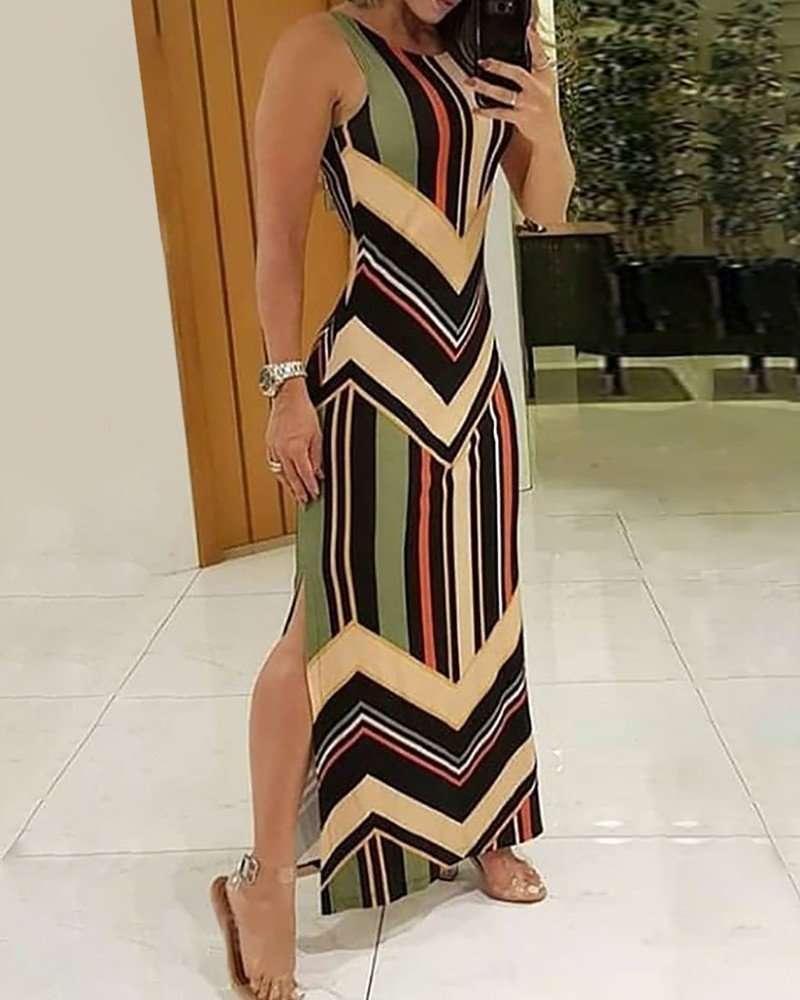 Vestido Longo Casual com Fenda