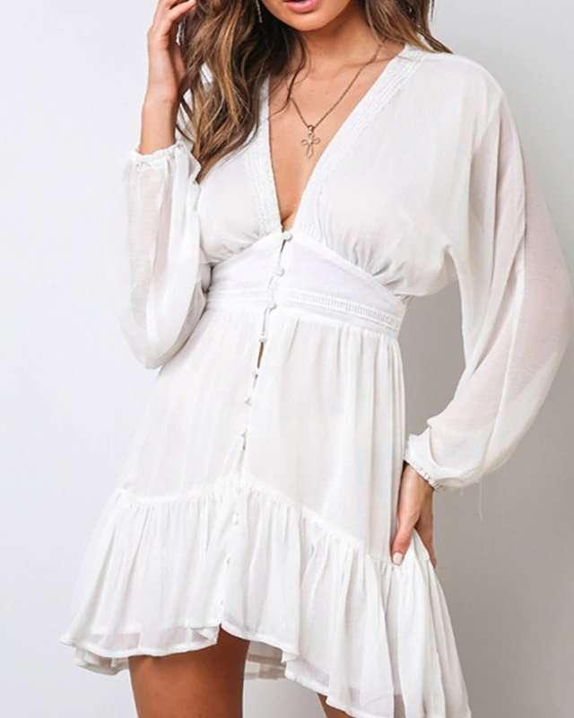 Vestido Branco Curto Soltinho