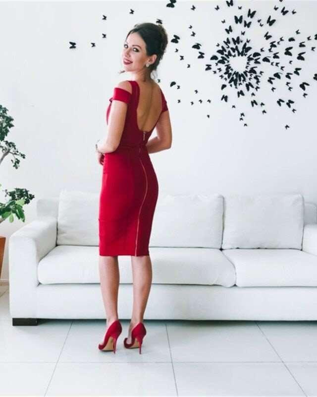 Vestido Bandagem Midi Vermelho Festa