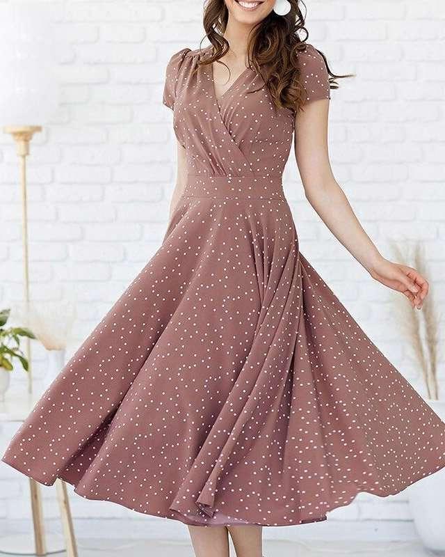 Vestido Midi Princesa Acinturado