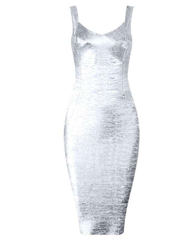 Vestido de Bandagem Midi
