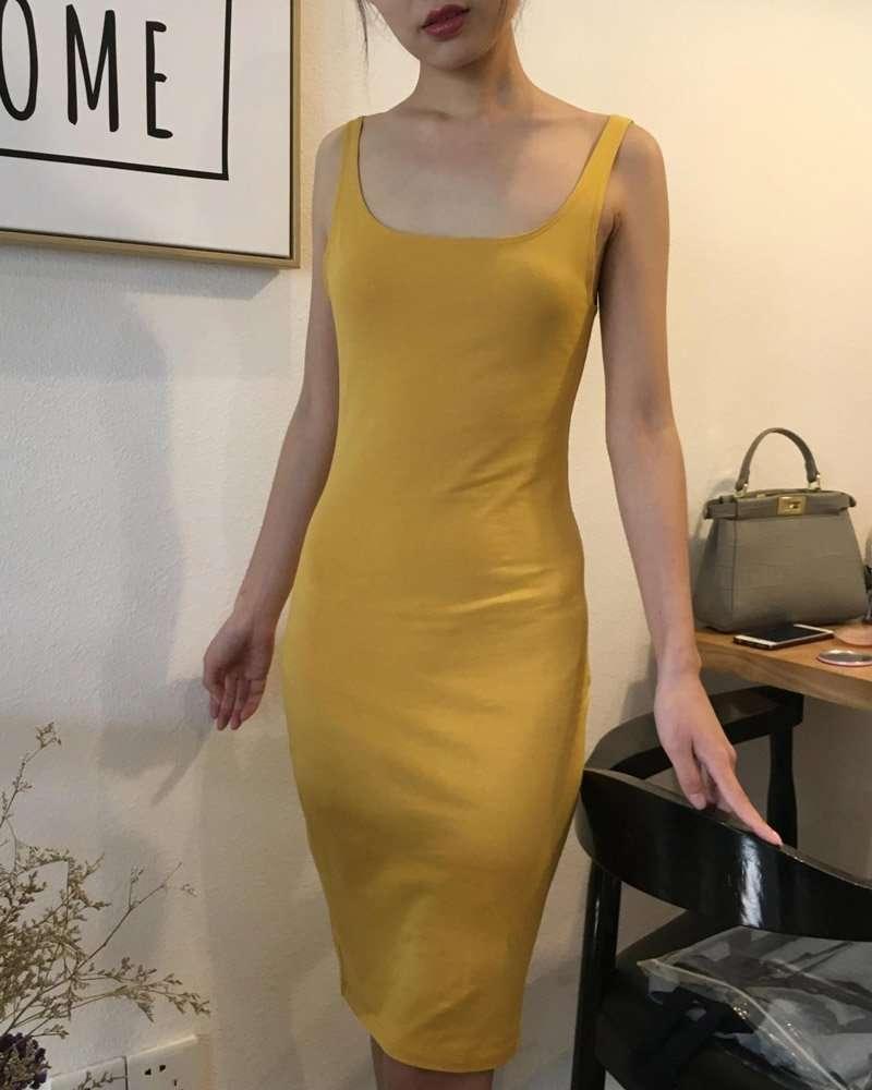 Vestido de Malha Midi