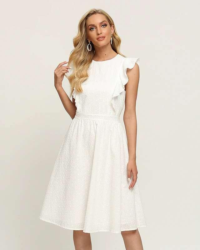 Vestido Branco Simples Curto