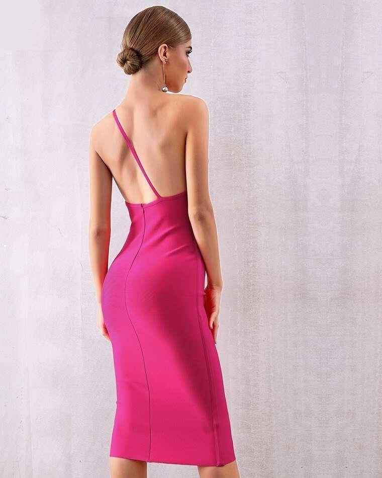 Vestido Bandagem Midi Rose