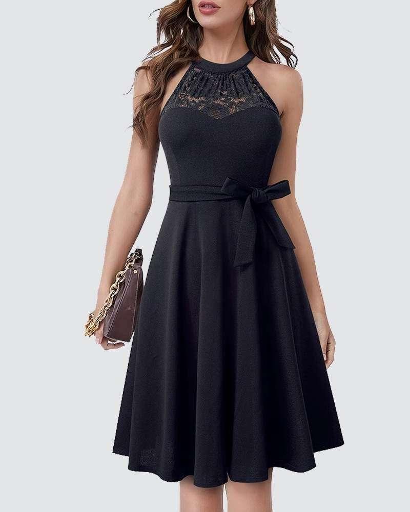 Vestido Saia Godê Midi com Cinto